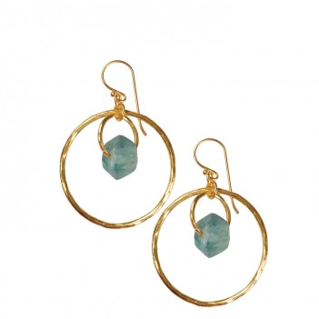 Gold Plated Sea-Grass Earring