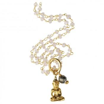 Multi Crystal Buddha Chain