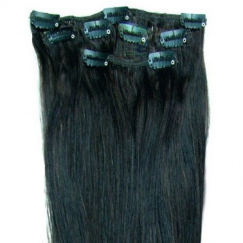 Clip In Human Hair Extension Half Head Set - 16 Inches Long