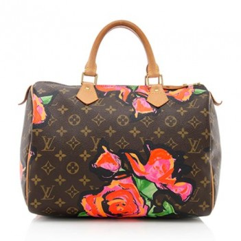 Louis Vuitton Limited Edition Roses Speedy Satchel