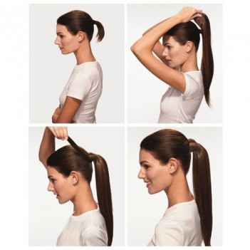 Pony Tail Hair Extension-  Chocolate Dark Brown
