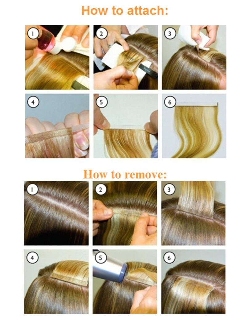 Remy Human Hair Extensions Super Tape In Skin Weft Hair 20