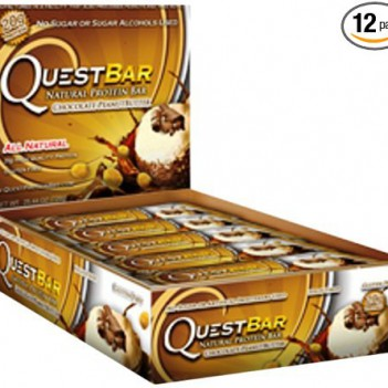 Quest Bar Protein Bar- Chocolate Peanut Butter- Pack of 12